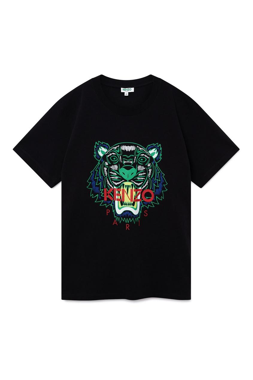 мужская футболка kenzo, черная