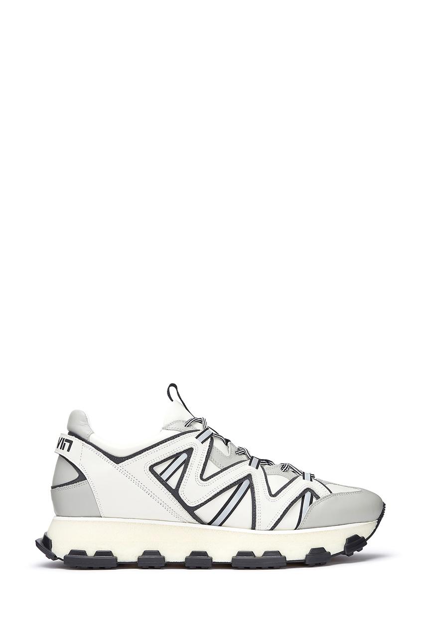 мужские кроссовки lanvin, белые
