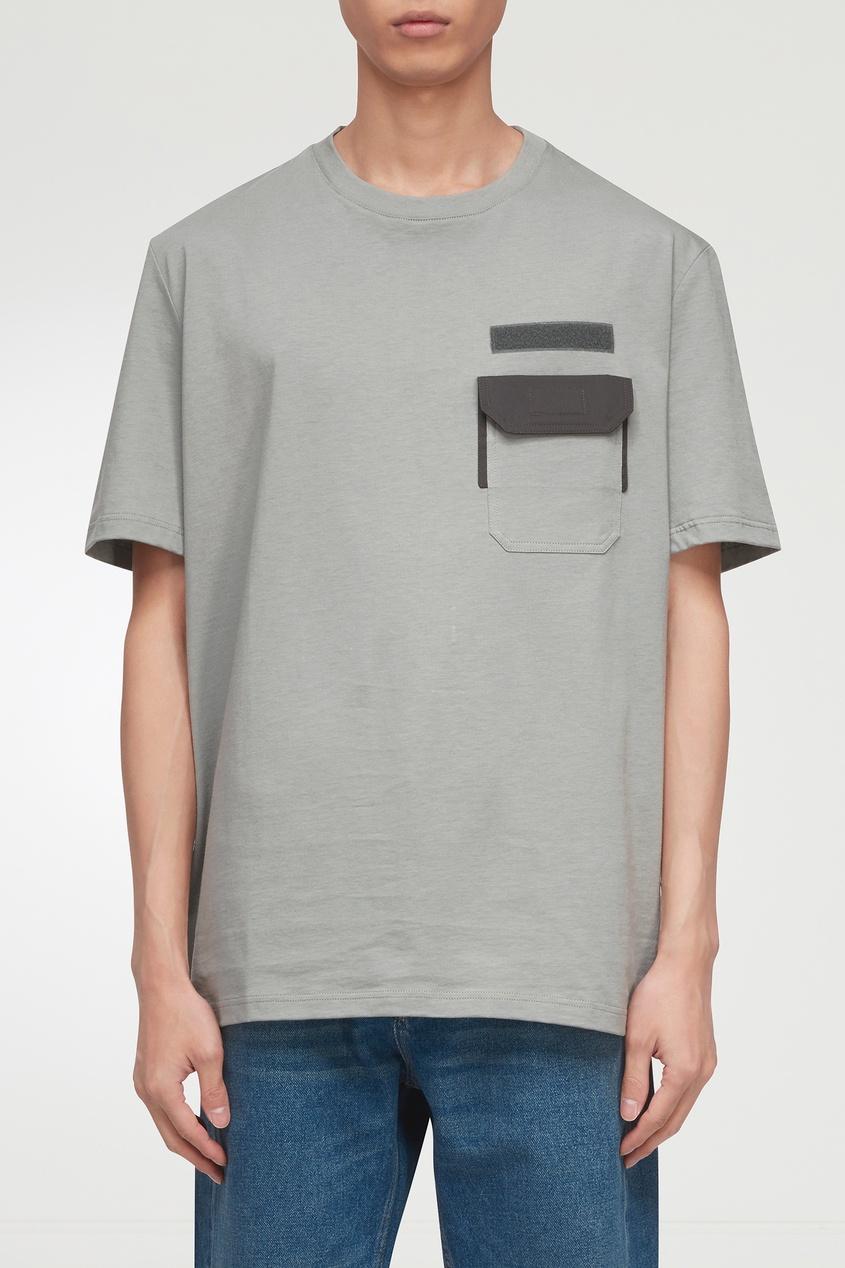 мужская футболка lanvin, серая