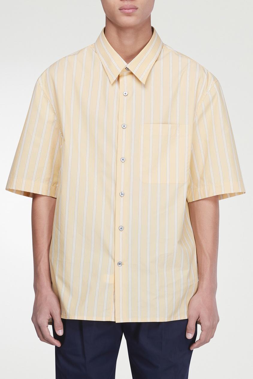 мужская рубашка lanvin, желтая