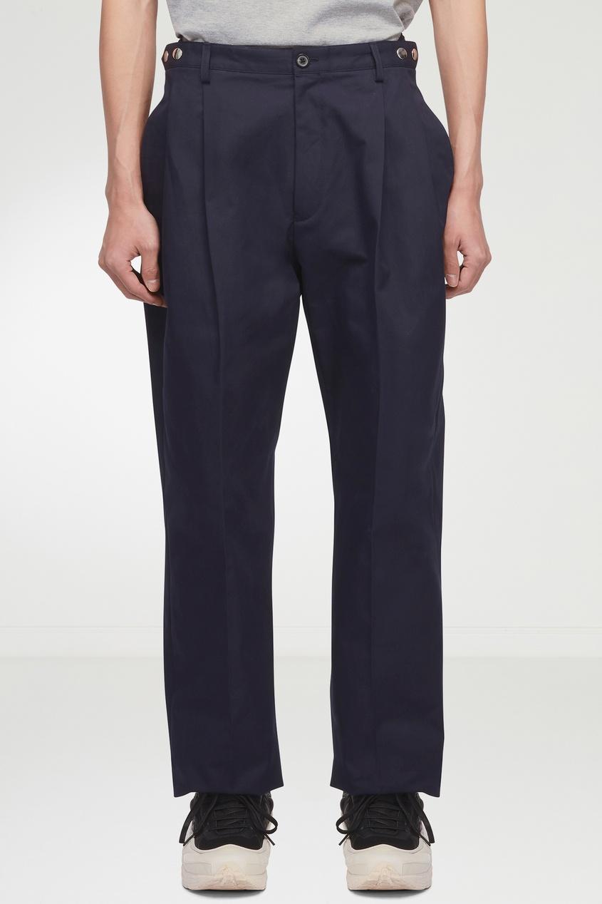 мужские брюки lanvin, зеленые