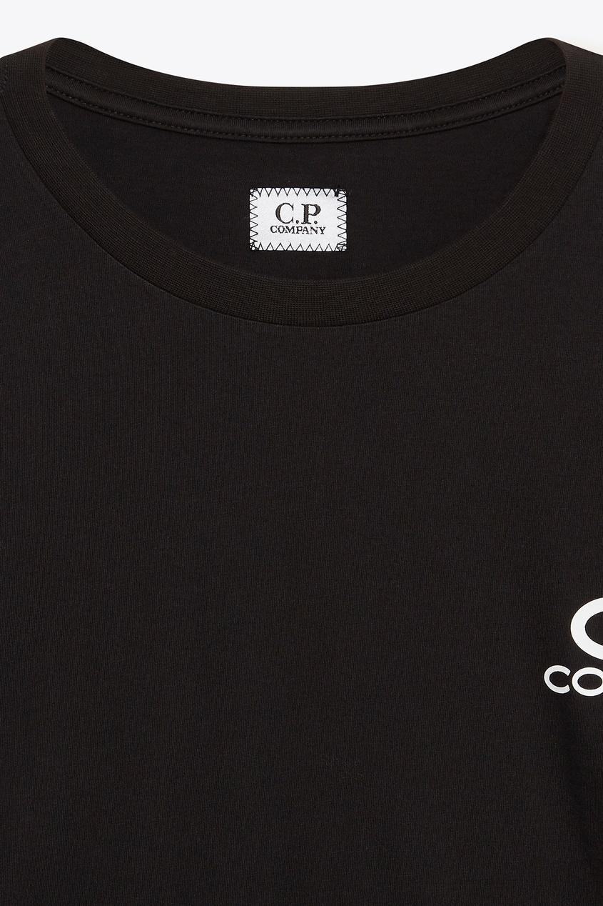 мужская футболка c.p. company, черная