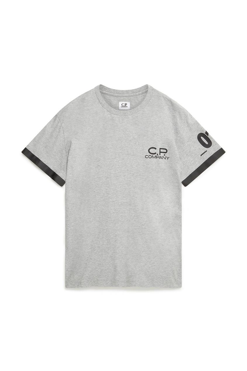 мужская футболка c.p. company, серая
