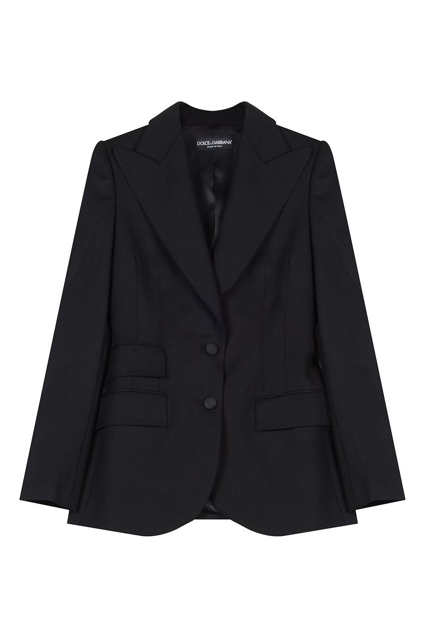 женский пиджак dolce & gabbana, черный