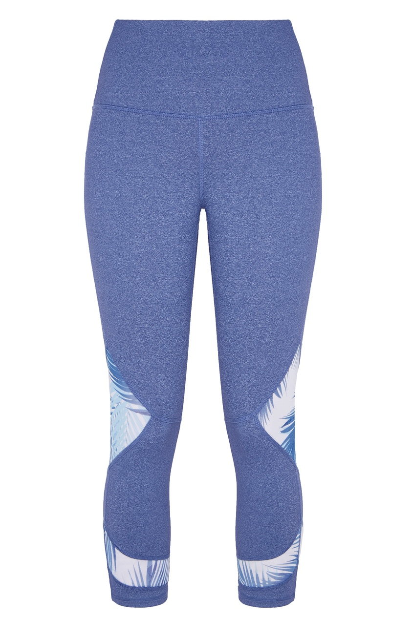 женские леггинсы roxy, голубые