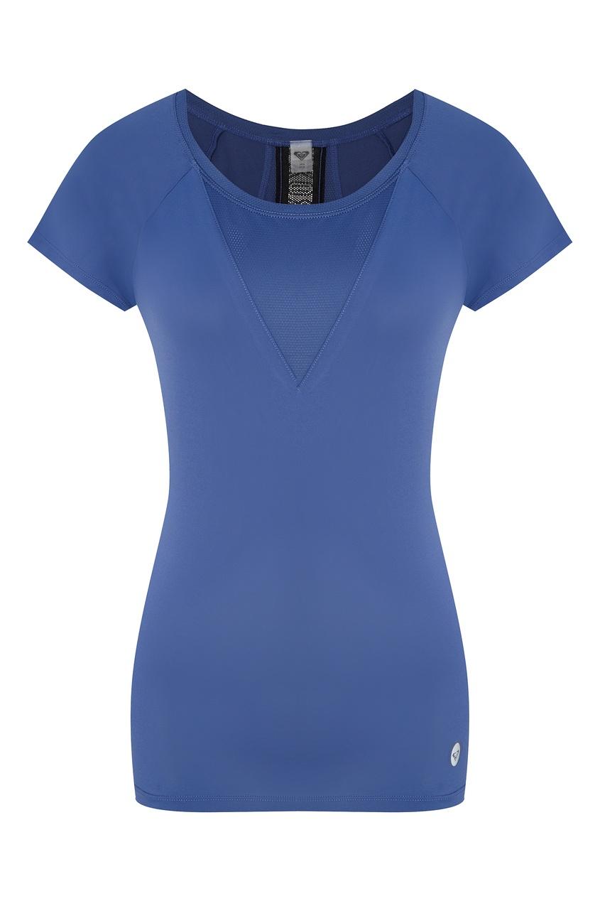 женская футболка roxy, голубая