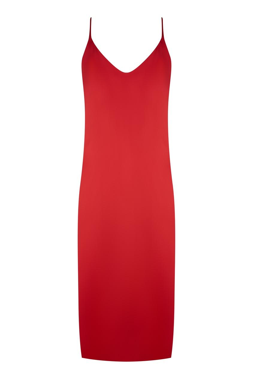 Красное шелковое платье 404 NOT FOUND