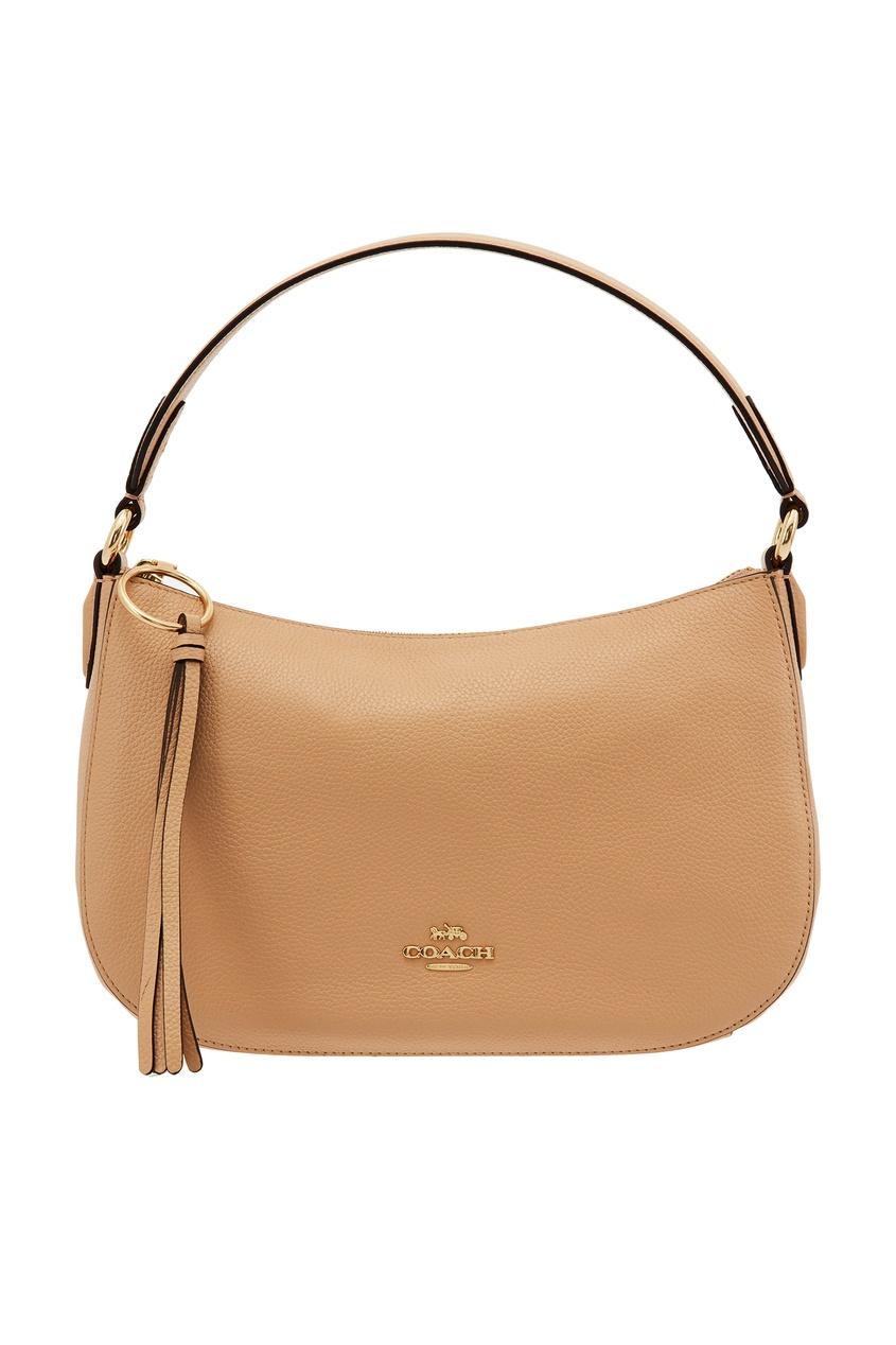 Фото - Бежевая сумка-седло Chelsea от Coach бежевого цвета