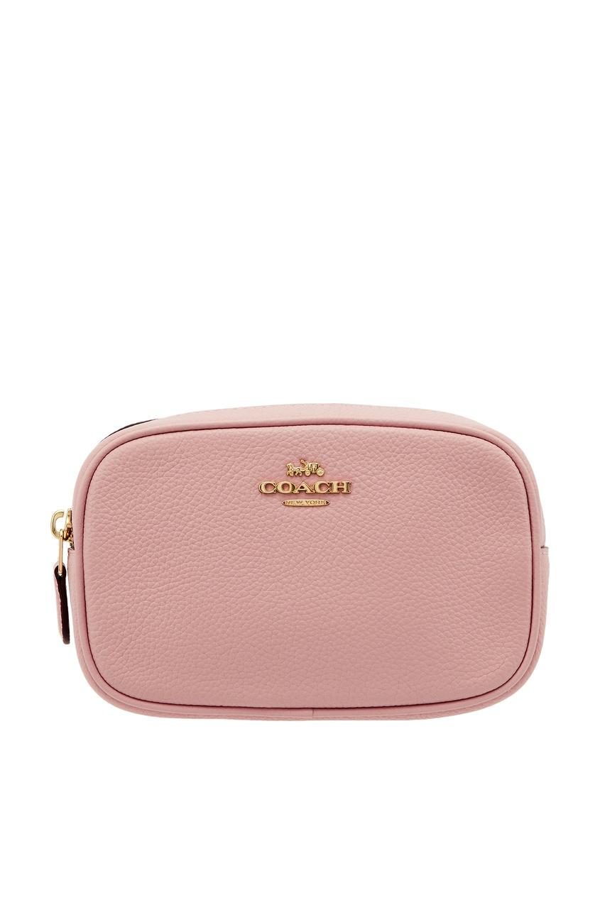 Розовая поясная сумка Coach