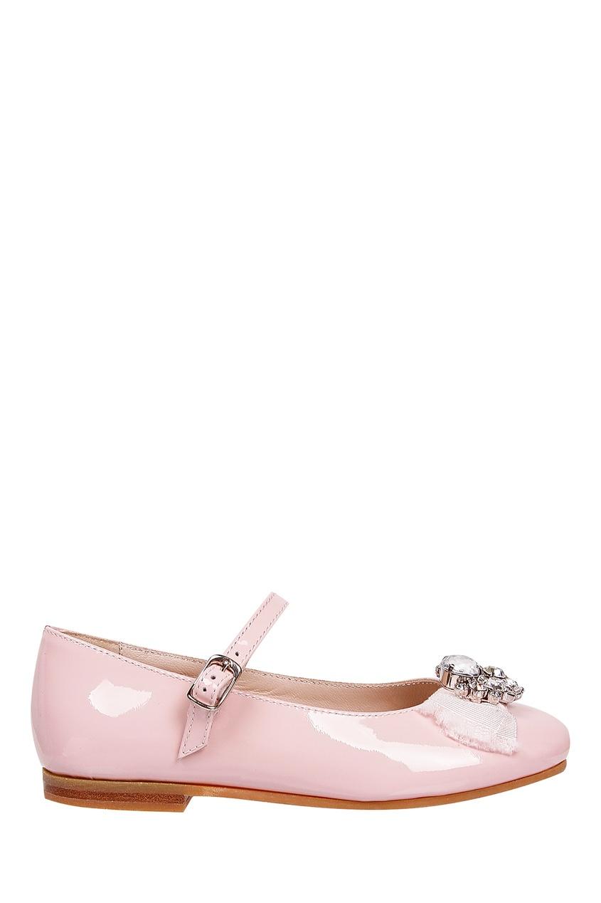 Розовые туфли с аппликацией от Il Gufo
