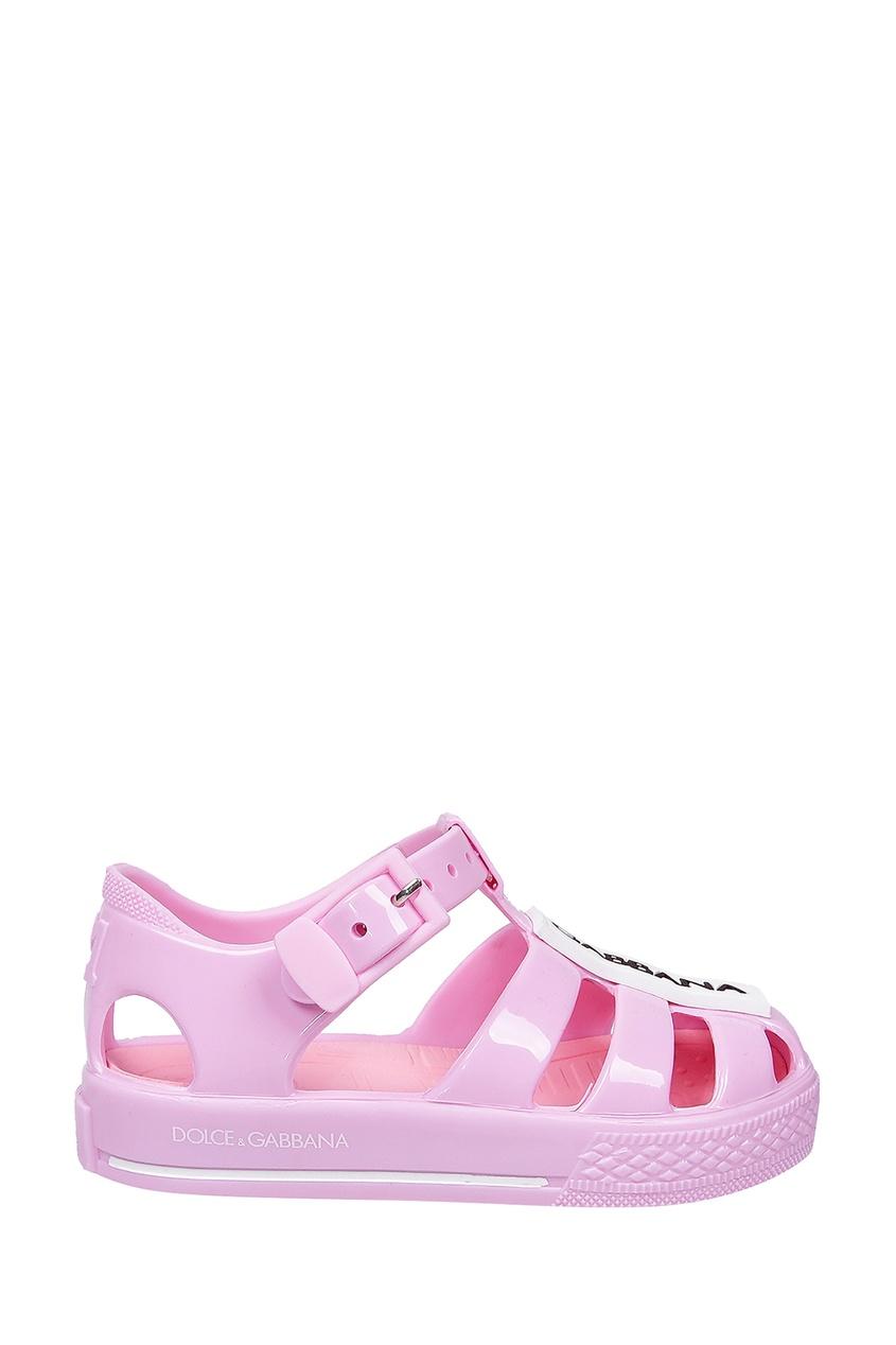 Купить Розовые сандалии с логотипом розового цвета