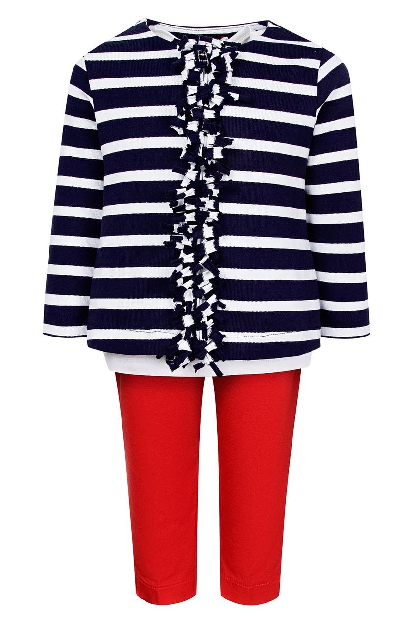Комплект с красными брюками от Il Gufo