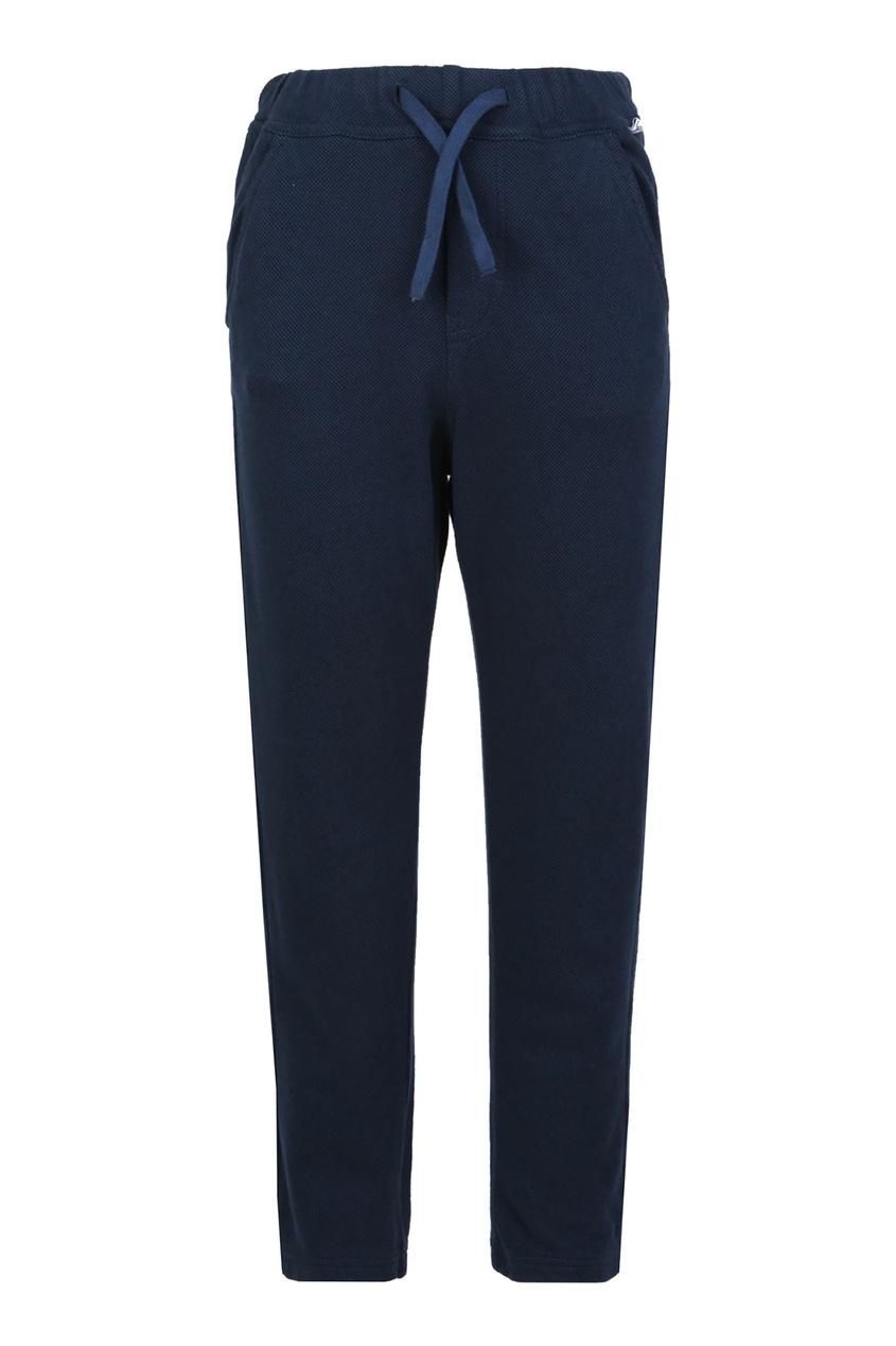 Купить Синие зауженные брюки синего цвета