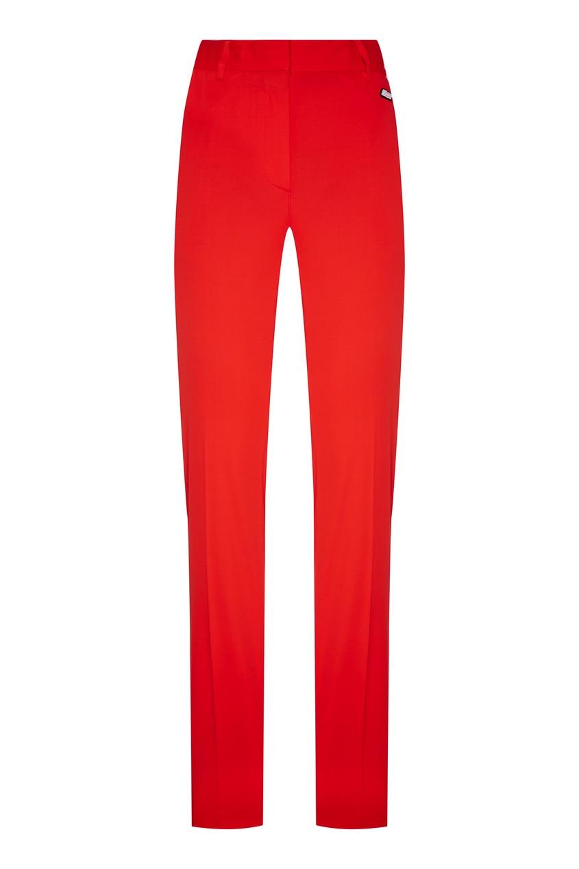 женские брюки msgm, красные