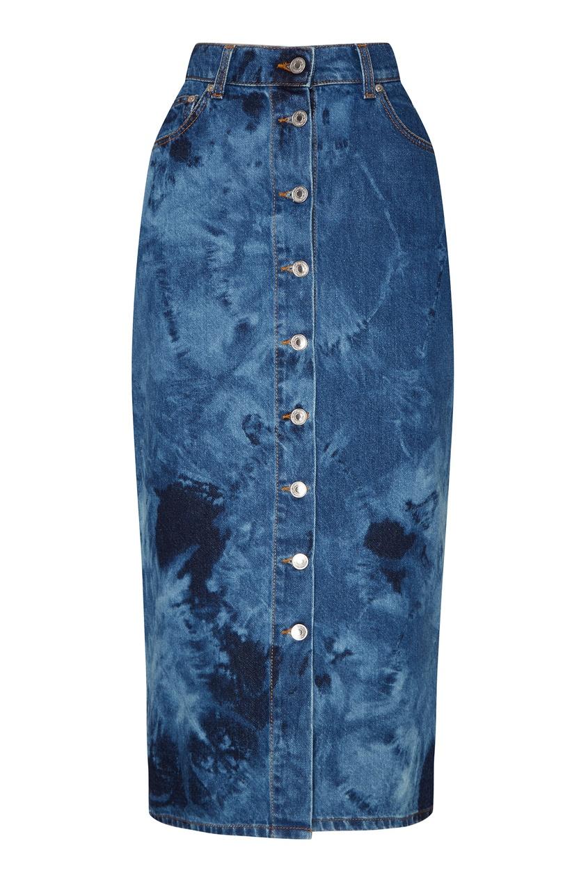 Джинсовая юбка на пуговицах MSGM