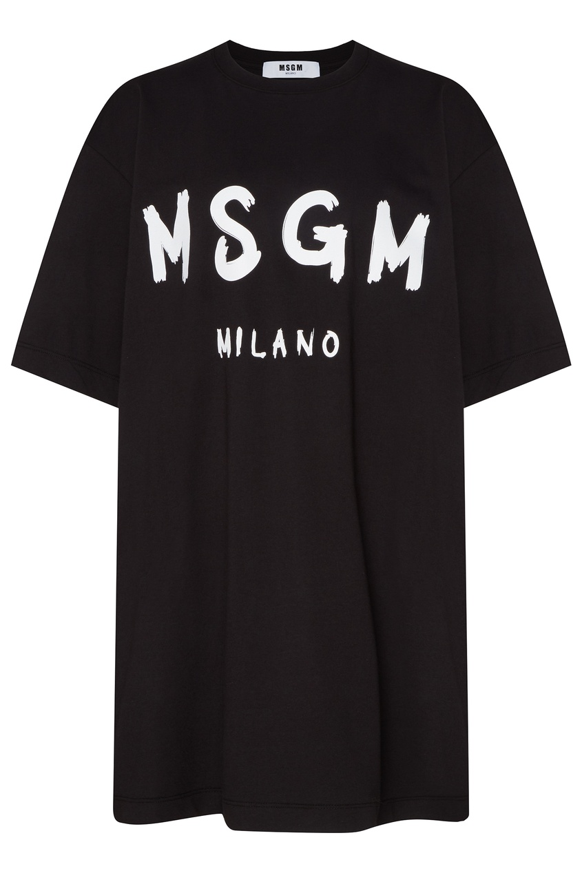 женское платье msgm, черное