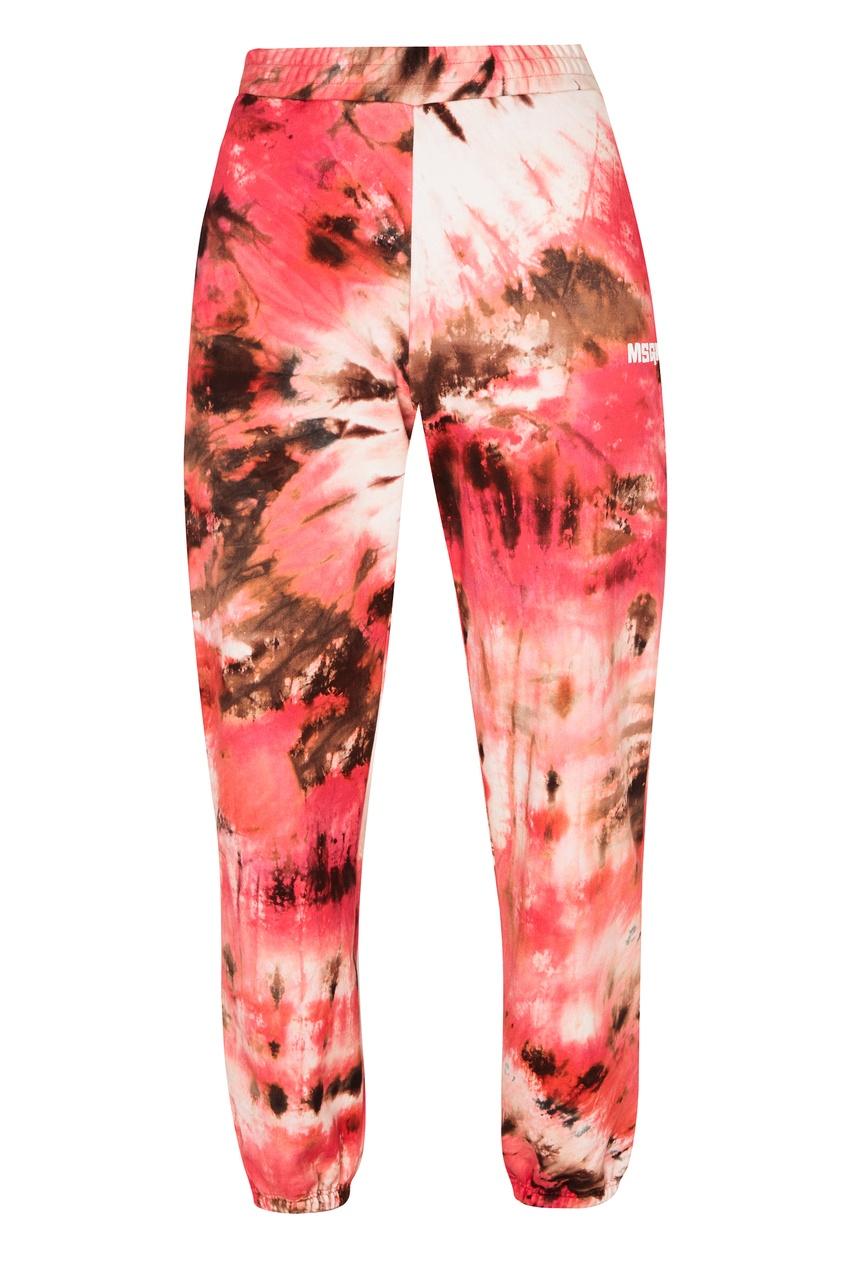 Разноцветные брюки с принтом MSGM