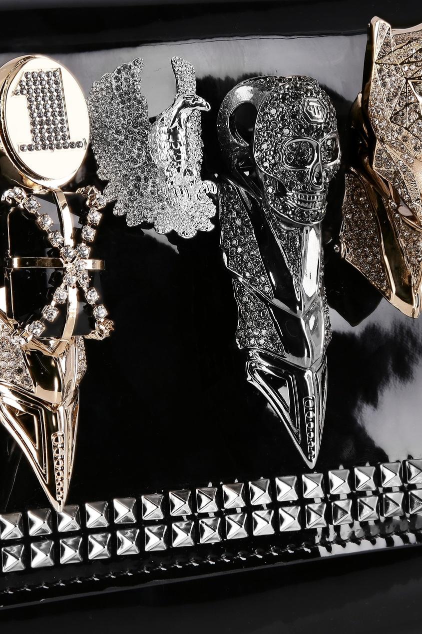 женский клатч philipp plein, черный