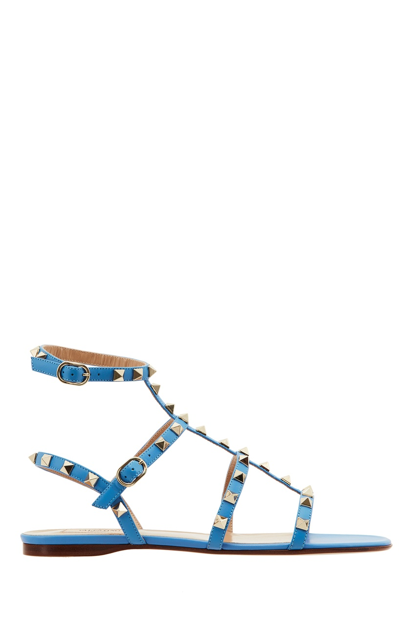 Купить со скидкой Голубые сандалии Valentino Garavani Rockstud