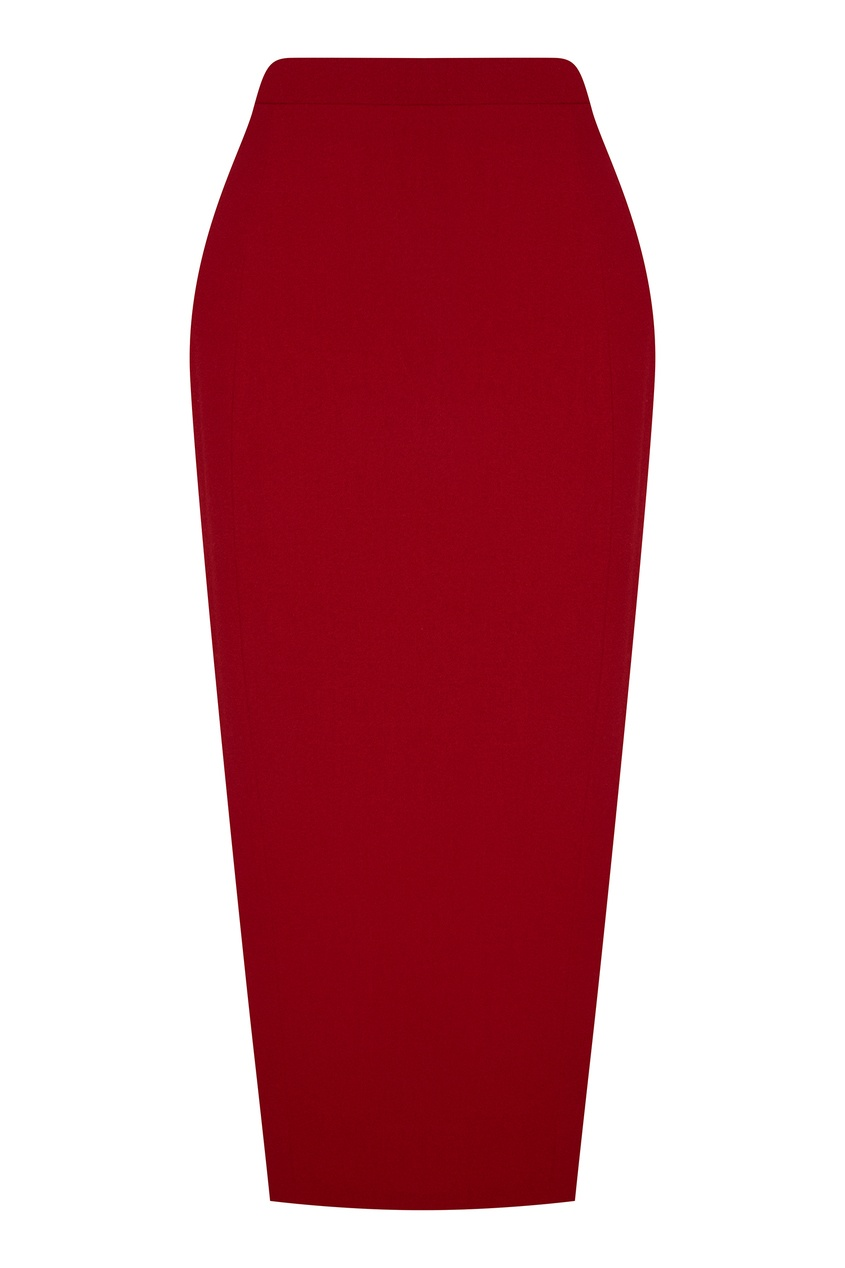 Красная юбка-миди Ulyana Sergeenko