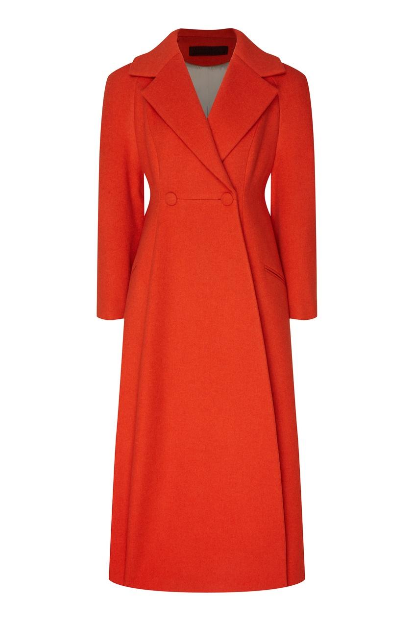 женское пальто ulyana sergeenko, оранжевое