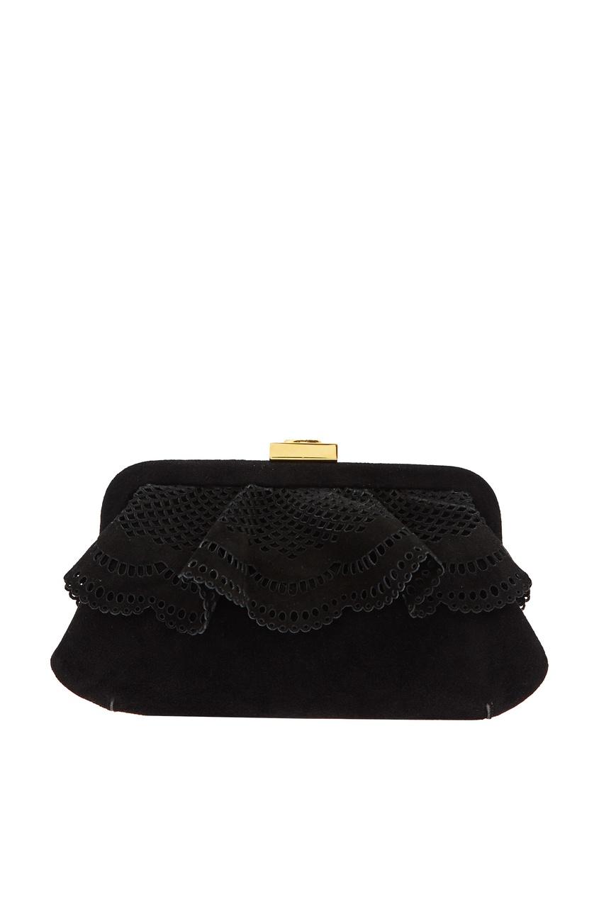 Черная ажурная сумка Ulyana Sergeenko