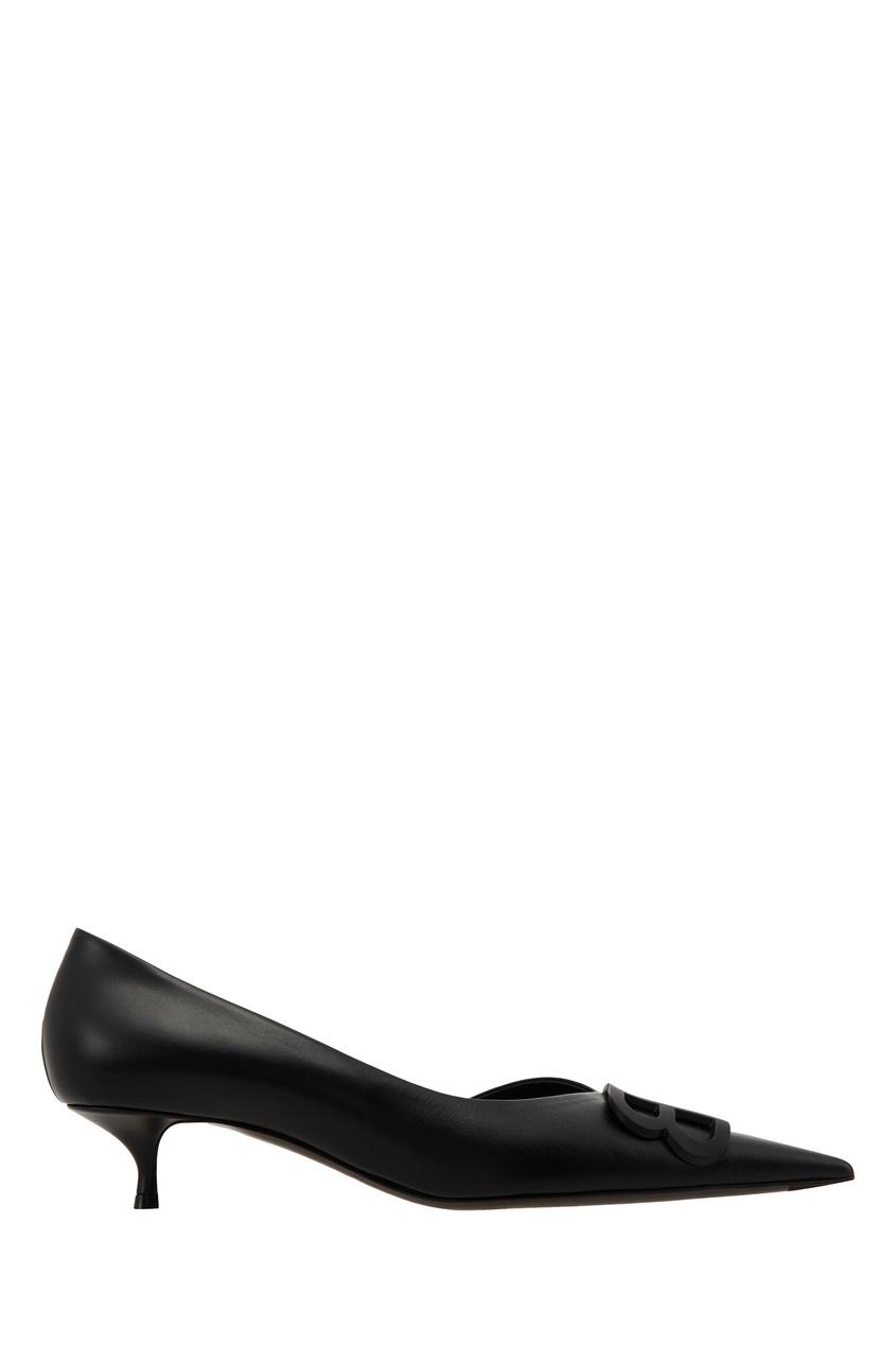 Черные туфли с логотипом Balenciaga