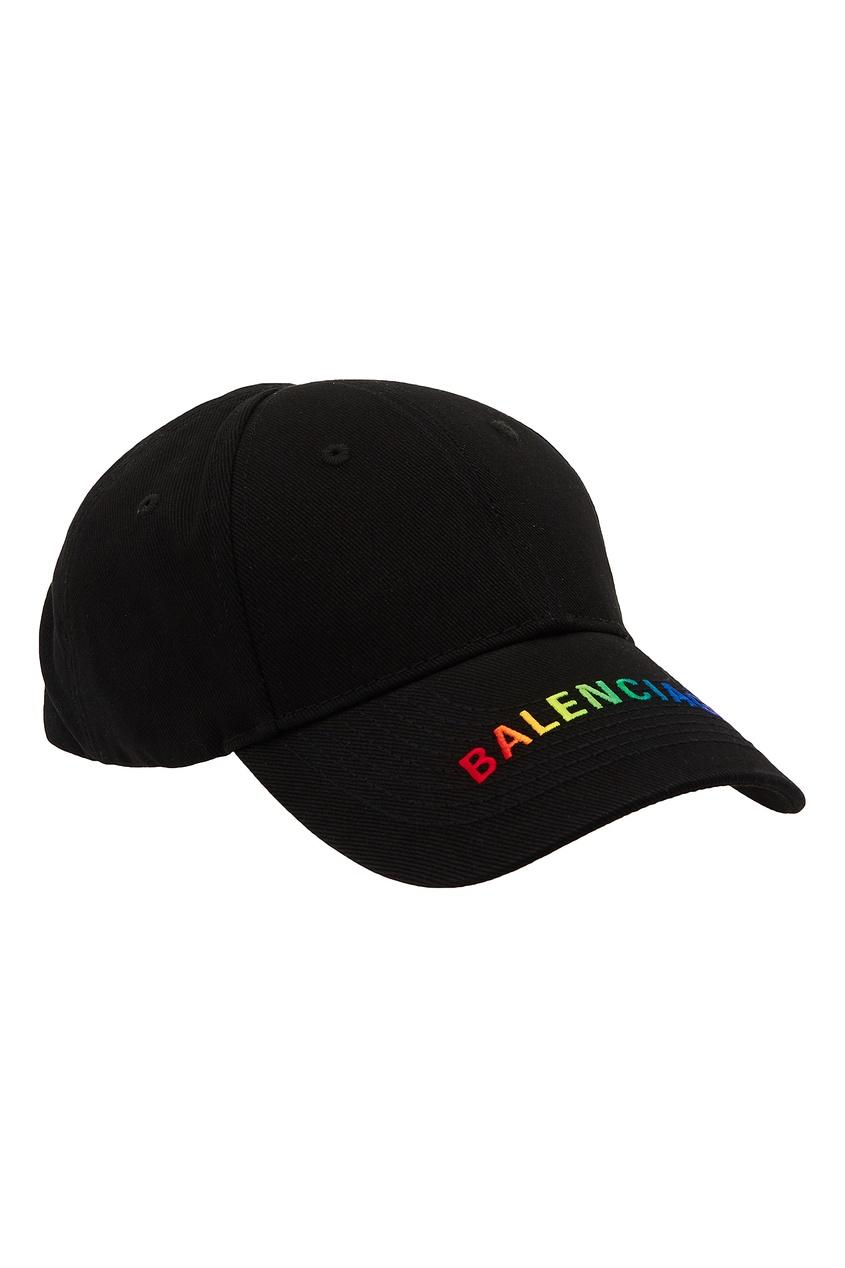 Черная кепка с логотипом от Balenciaga