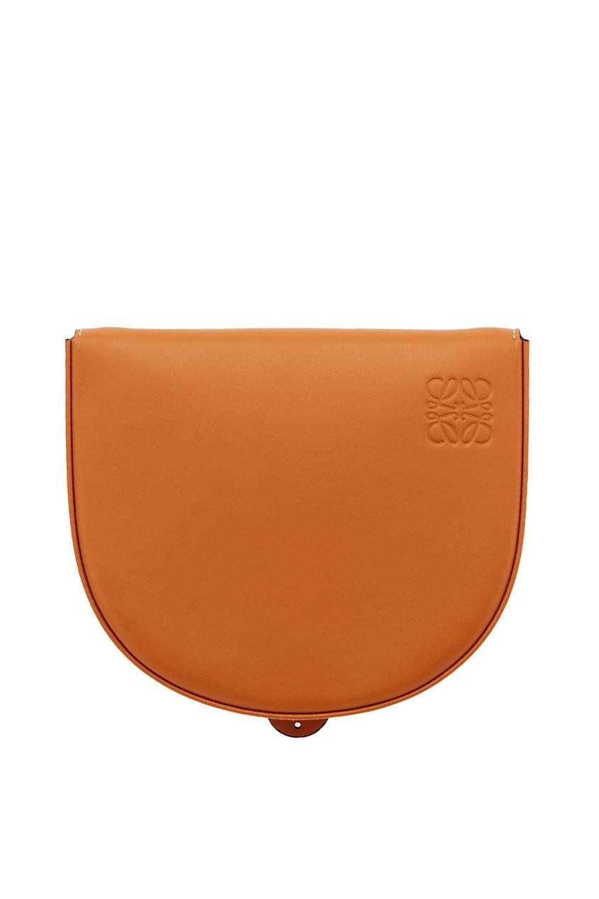 Коричневая кожаная сумка Heel Loewe