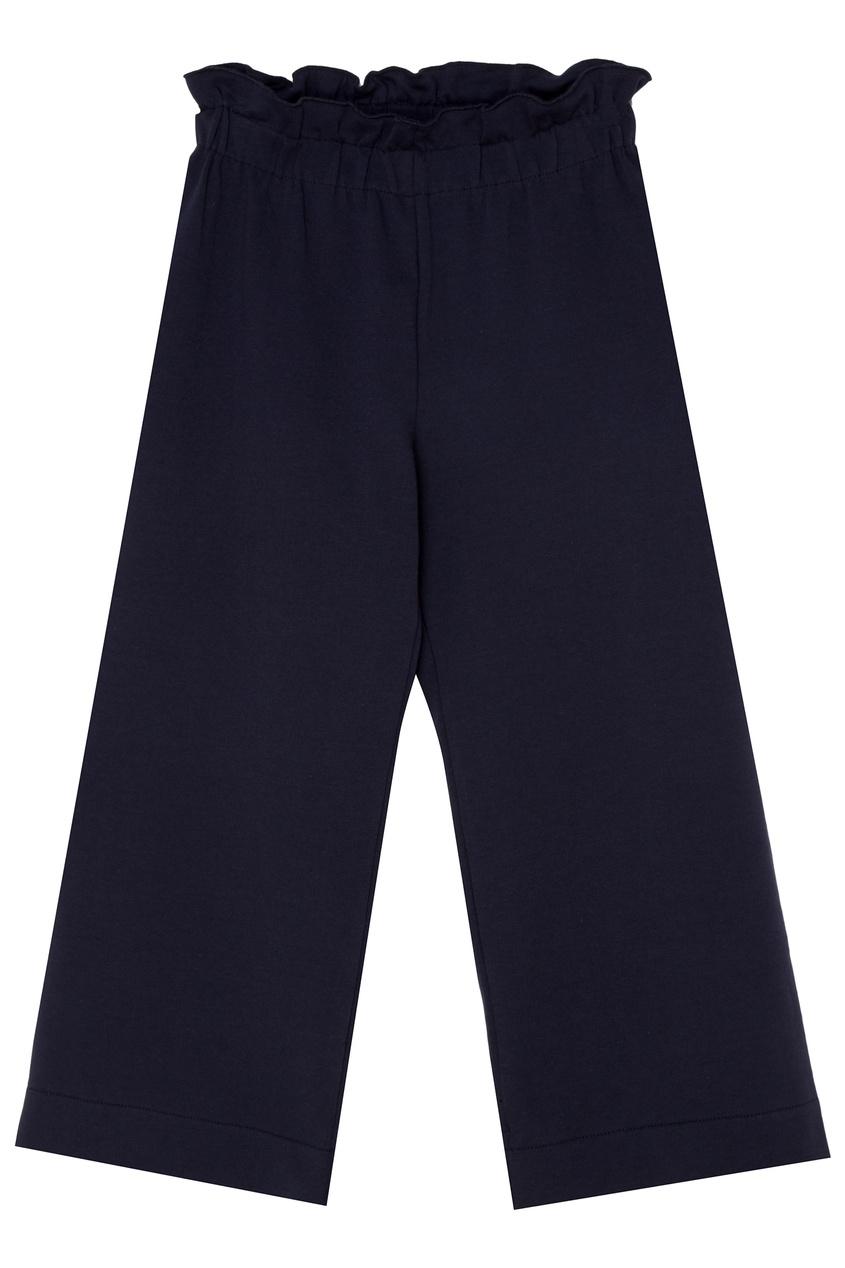 Купить Синие брюки с эластичным поясом синего цвета