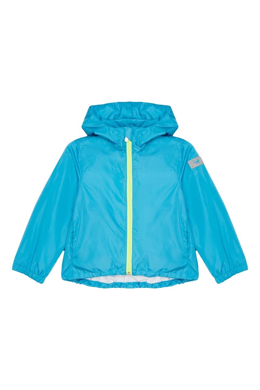 Купить Голубая куртка с капюшоном голубого цвета