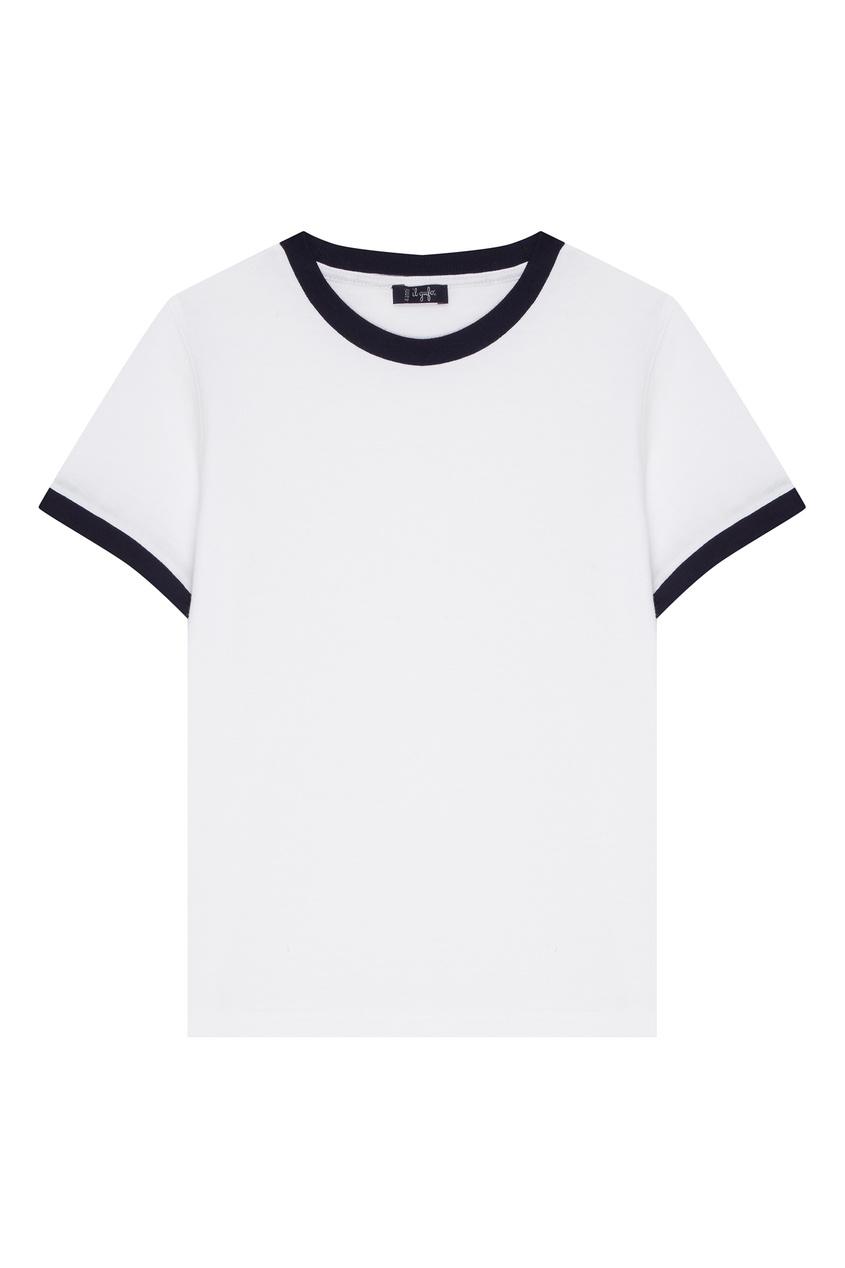 Белая футболка с контрастной отделкой IL Gufo