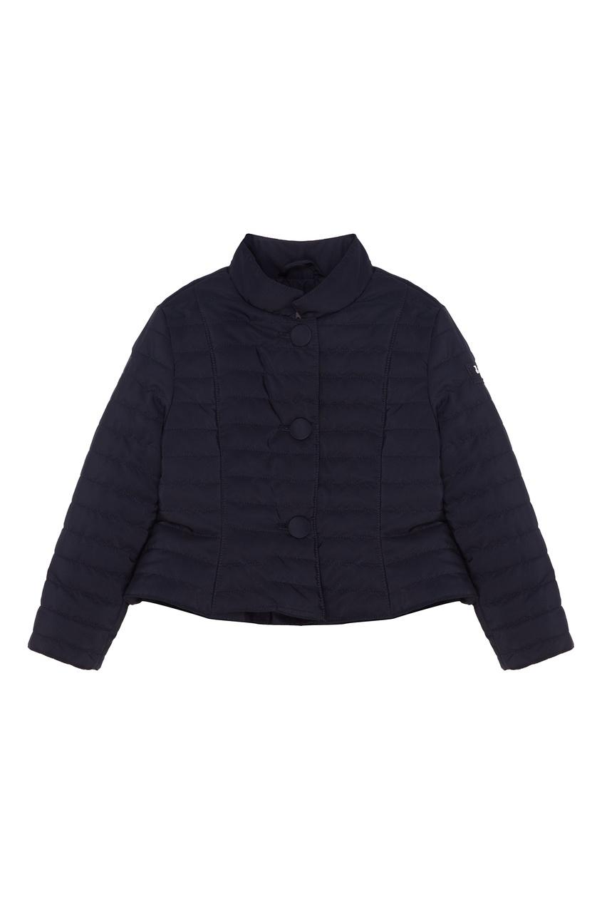 Купить Синяя стеганая куртка синего цвета
