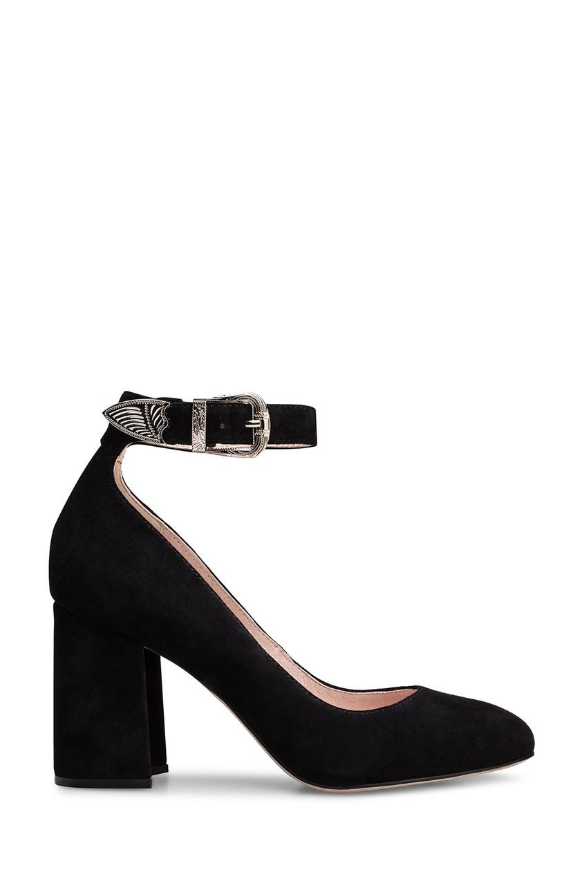 Черные туфли с ремешком Portal