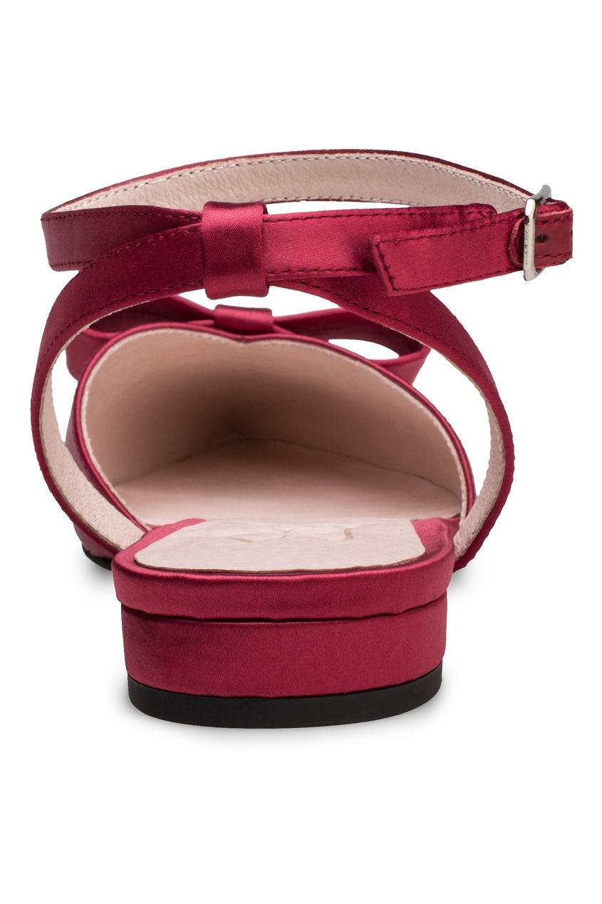 Фото 4 - Бордовые туфли с бантом от Portal красного цвета