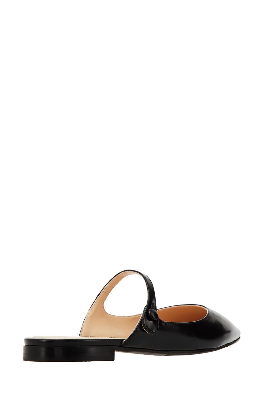 Фото 4 - Черные мюли с ремешками от Prada черного цвета