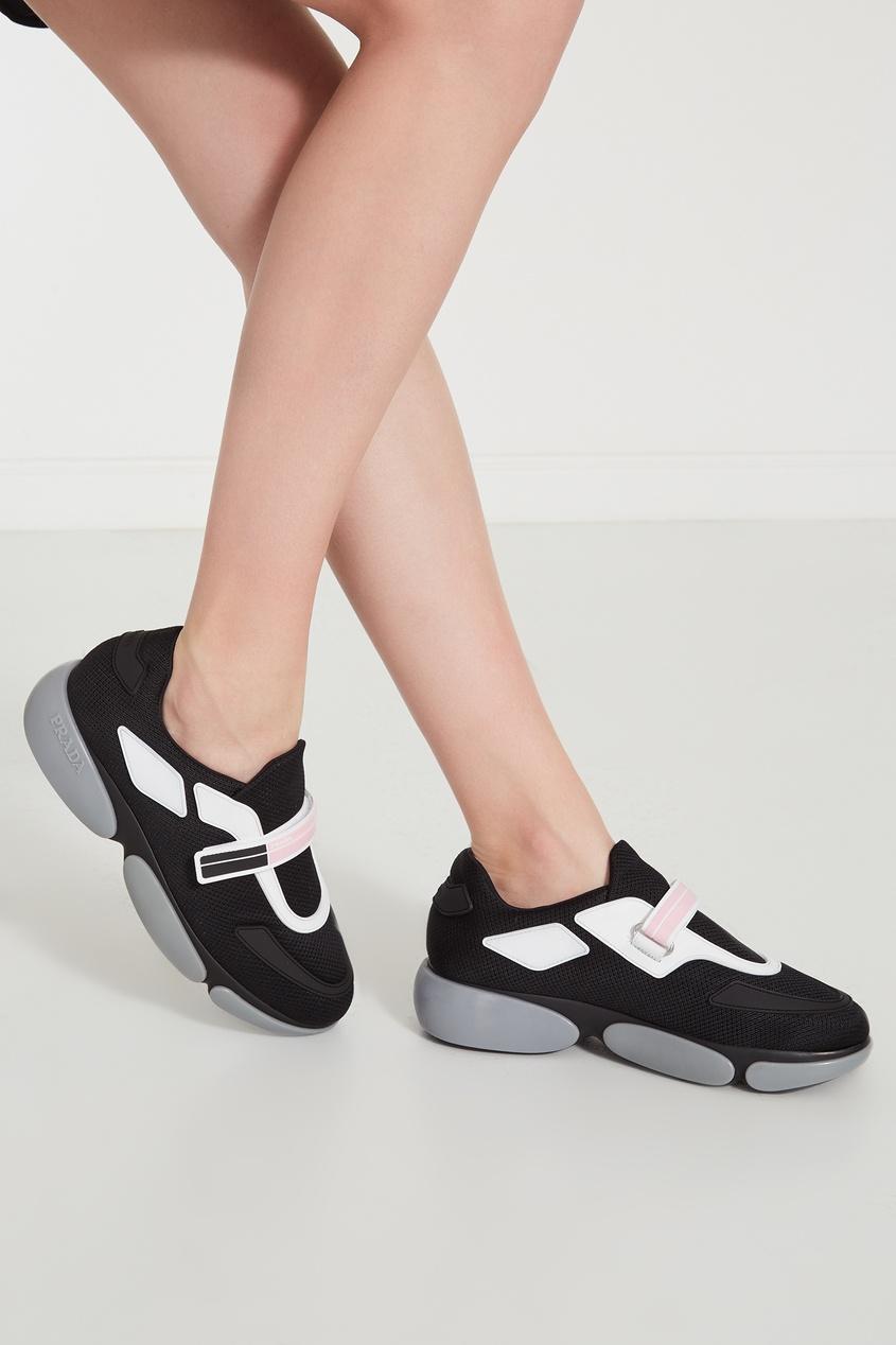 Фото 3 - Комбинированные кроссовки Cloudbust от Prada цвет multicolor