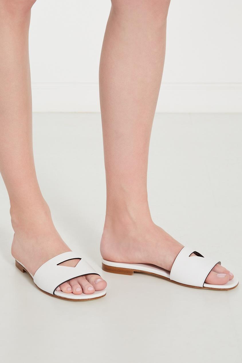 женские пантолеты prada, белые