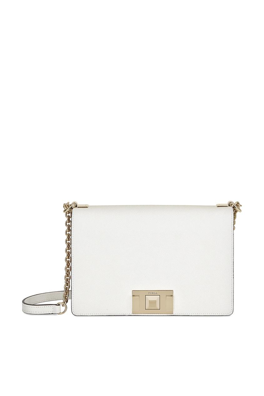 Белая сумка Mimi Furla