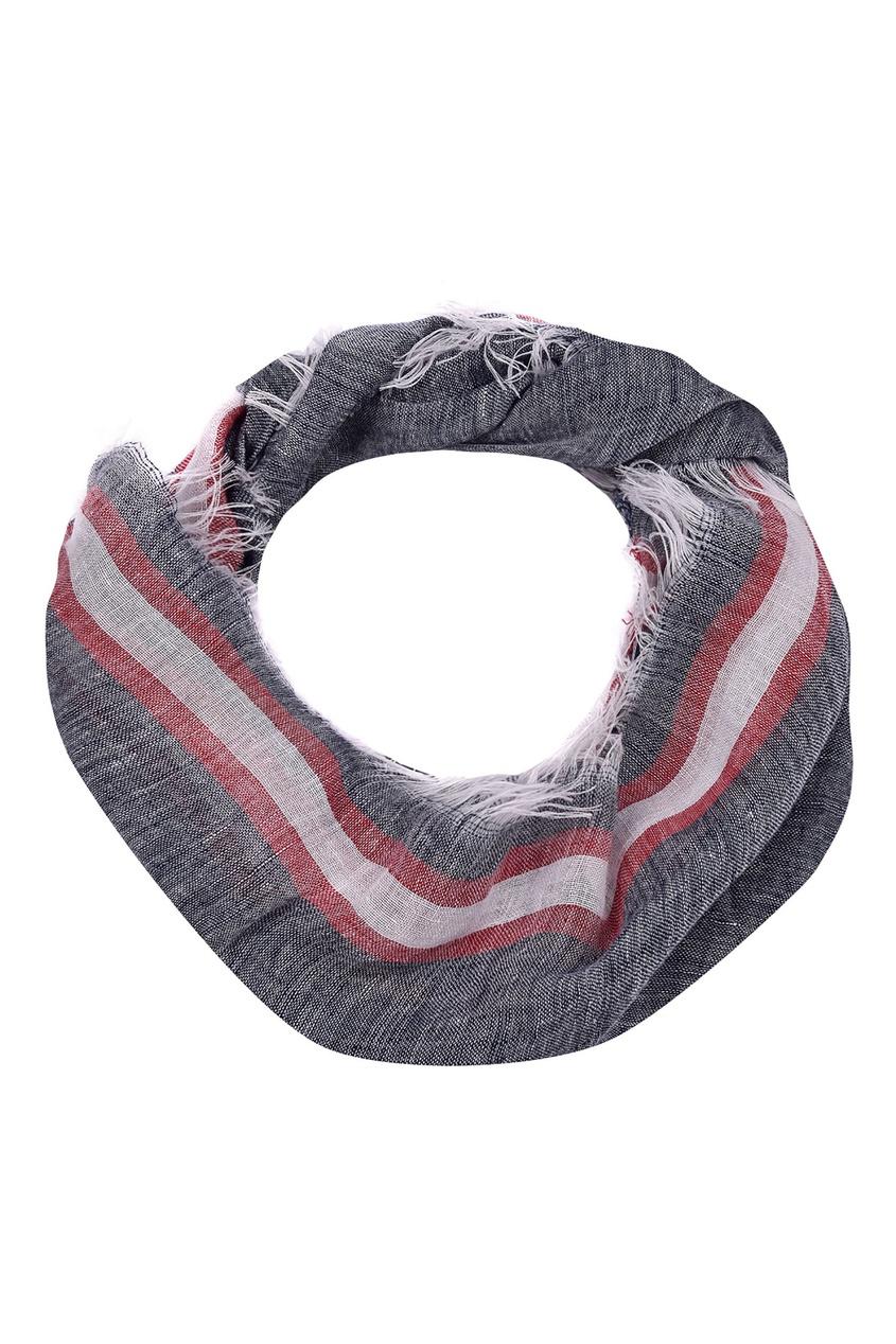 Купить Серый шарф синего цвета