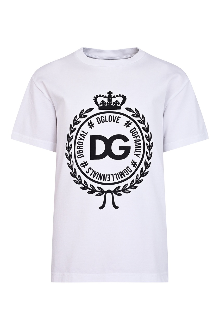 Купить Белая футболка с эмблемой белого цвета