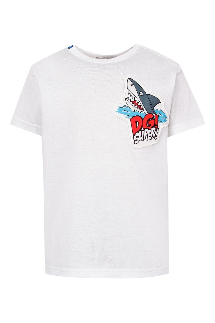 Белая футболка с акулой Dolce&Gabbana Children
