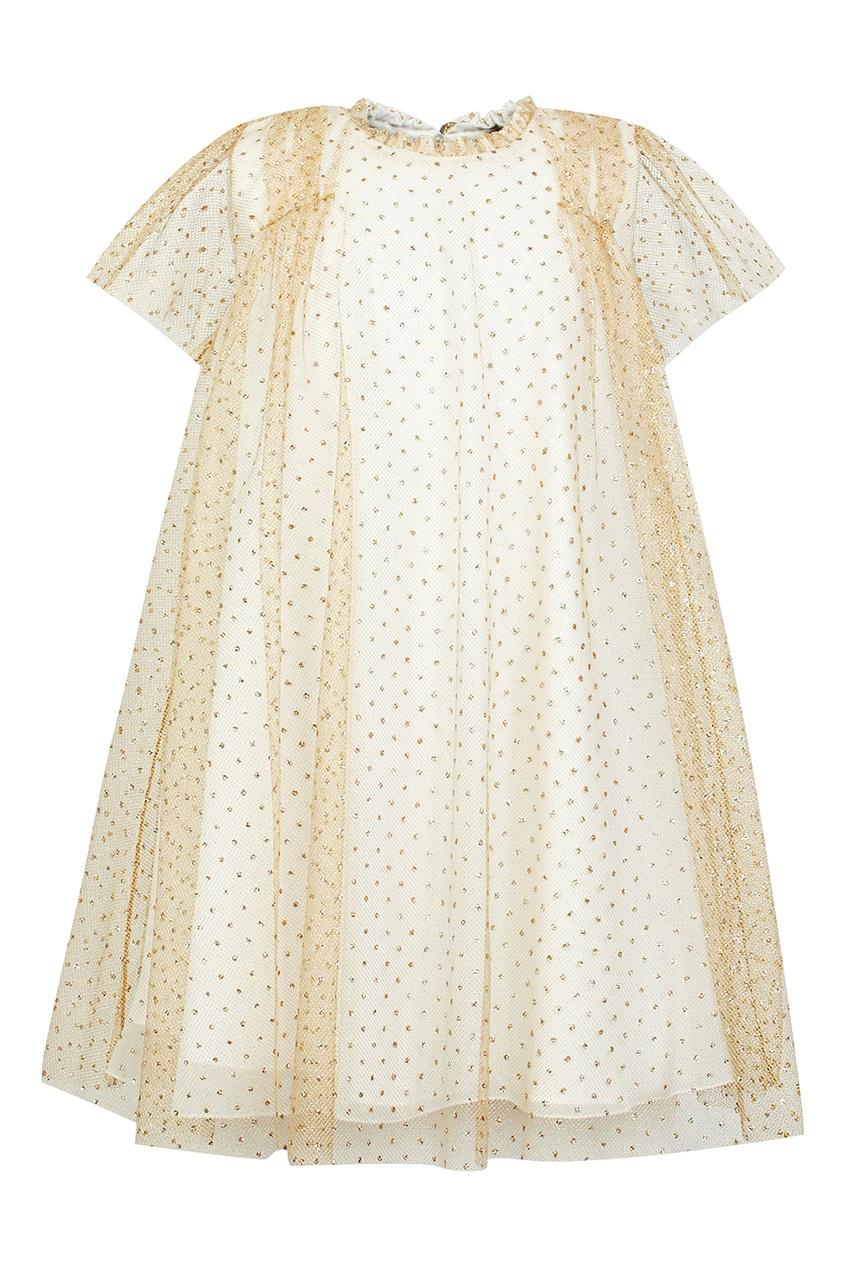 Купить Бежевое платье от Dior Kids бежевого цвета