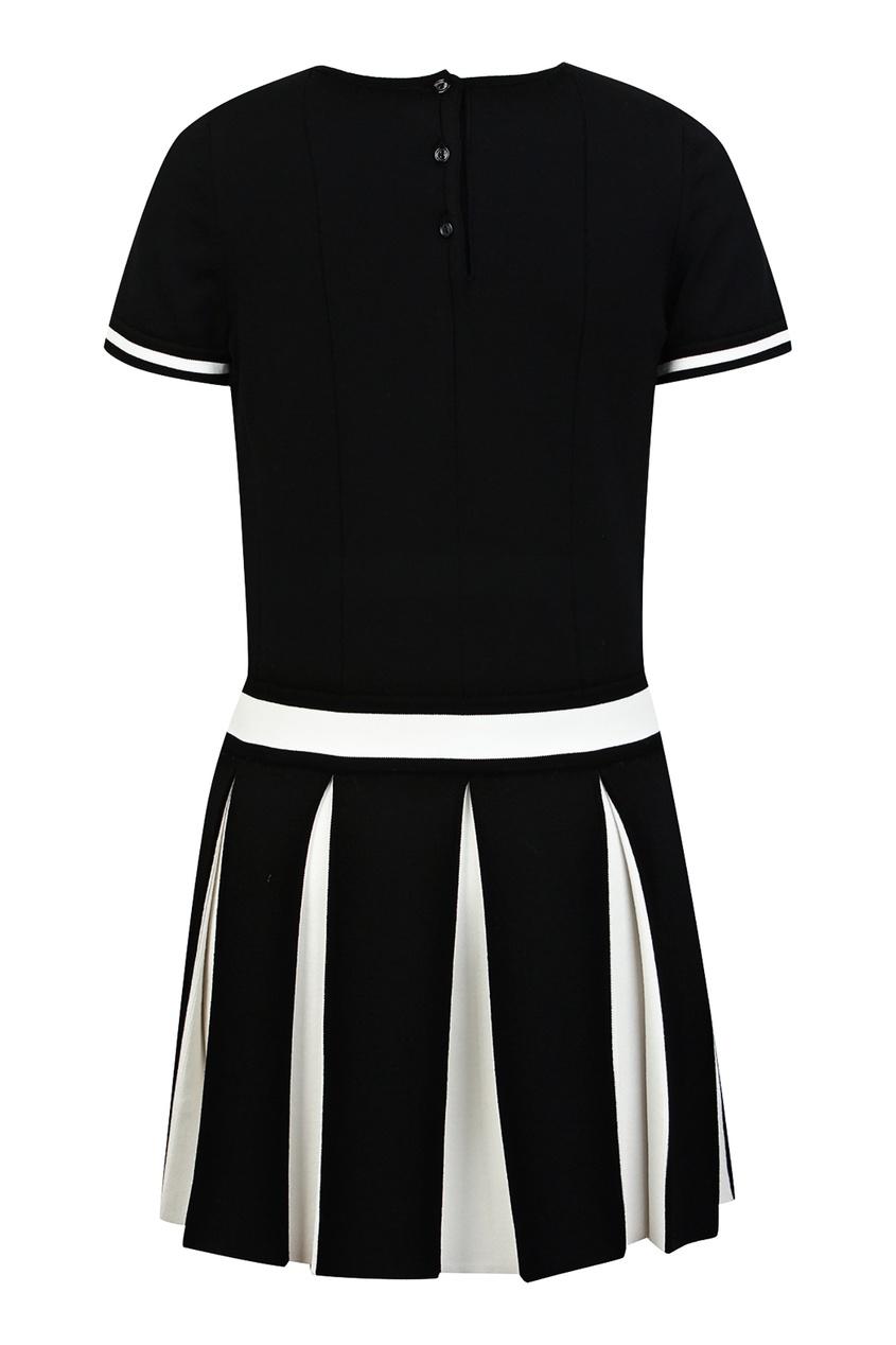 Купить Спортивное черное платье от Dior Kids черного цвета