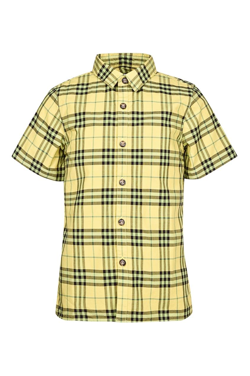 Купить Желтая рубашка от Burberry Kids желтого цвета