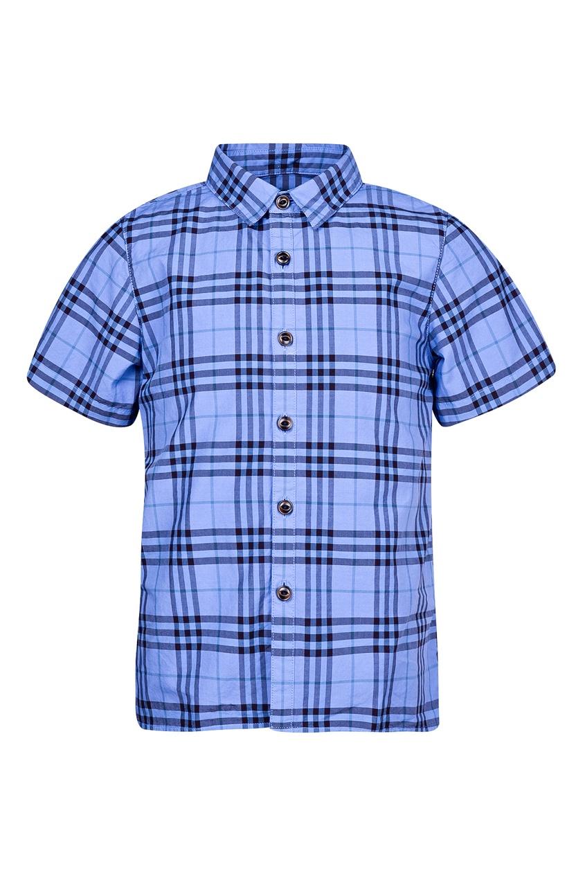 Синяя рубашка Burberry Kids