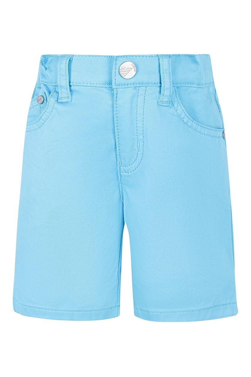 Купить Голубые шорты от Emporio Armani Kids голубого цвета