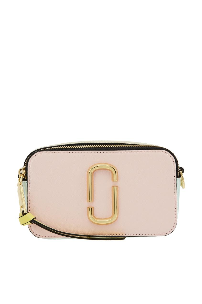 Кожаная сумка с логотипом Marc Jacobs