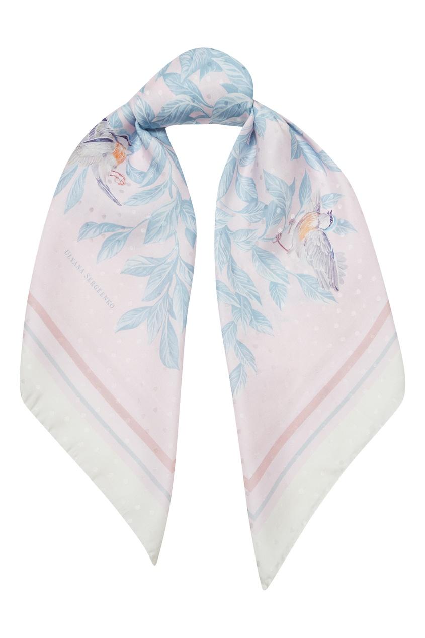 женский платок ulyana sergeenko, розовый
