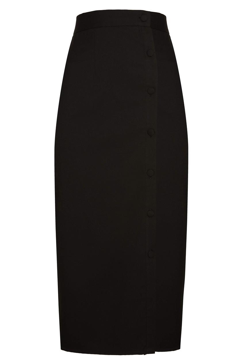 Черная юбка с пуговицами Sorelle